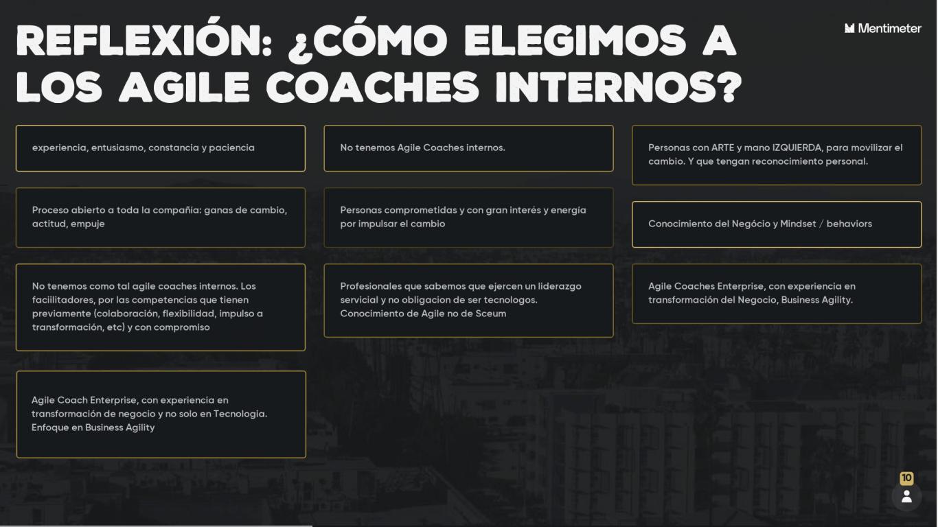 ¿Como elegimos los Agile Coaches internos?